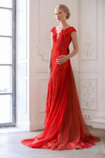 Красное свадебное платье - выбор ярких невест