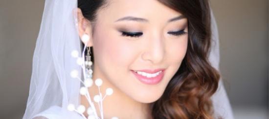 Свадебный макияж для узких глаз