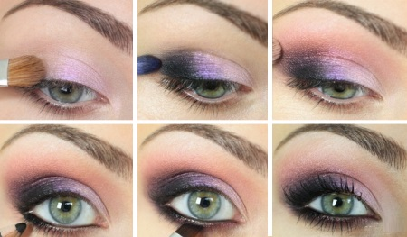 Макияж для узких серых глаз