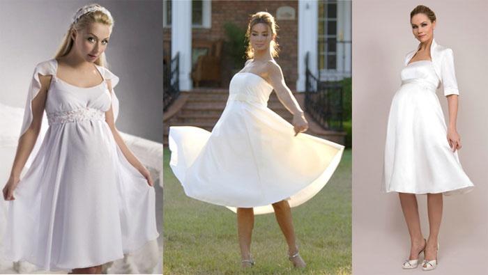 Фото: Свадебные наряды для поздних сроков беременности