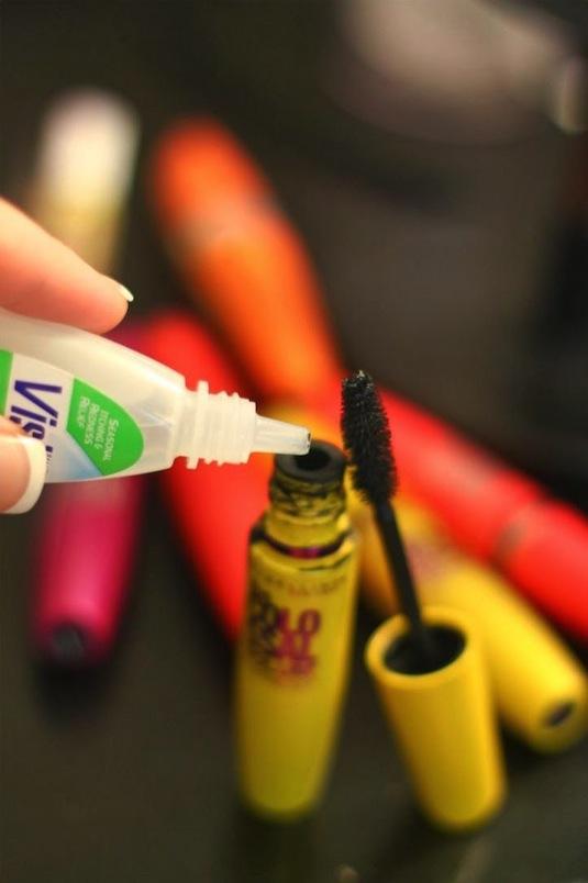Хитрости макияжа - как восстановить пересохшую тушь