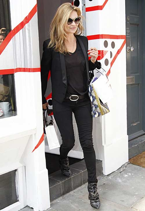 Кейт Мосс уличный стиль