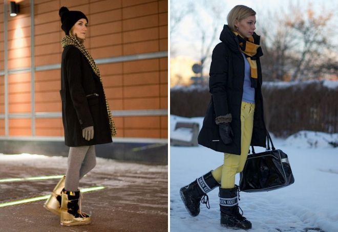 стильные зимние дутики