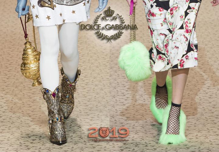 Обувь показа Dolce & Gabbana осень-зима 2018-2019