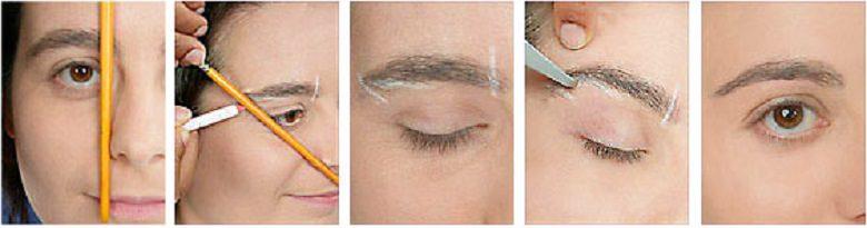 как сделать идеальные брови в домашних условиях фото пошагово