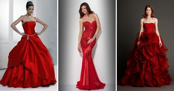 Красное свадебное платье – более 30 фото лучших моделей для ярких и смелых невест
