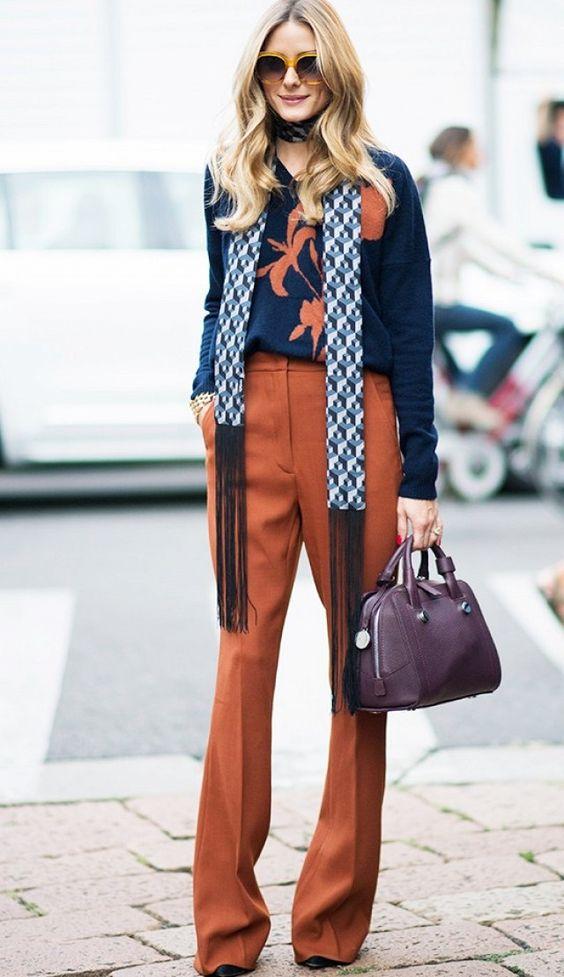 льняные брюки и джемпер