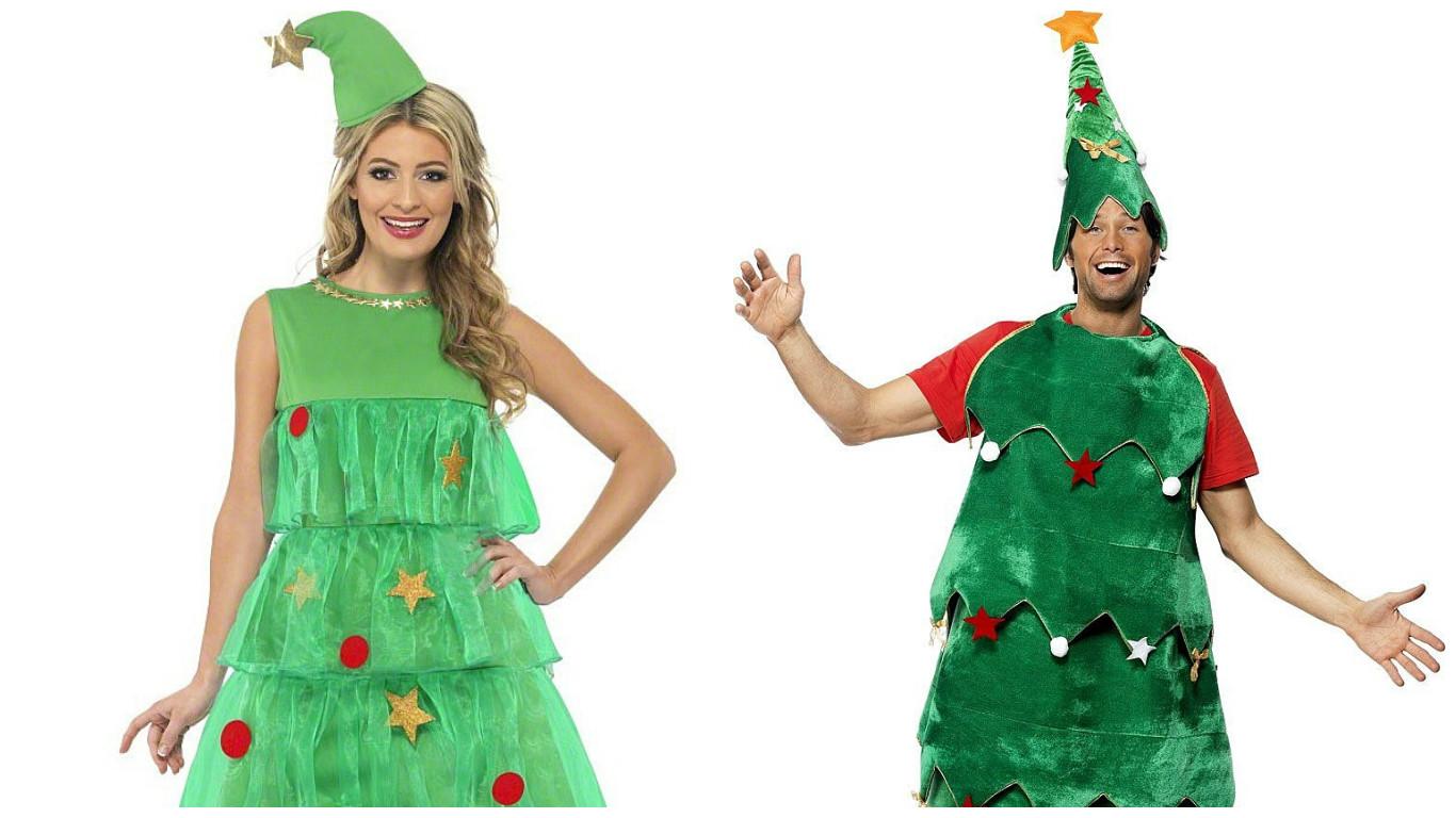 Костюм новогодней елочки для мужчины и для женщины