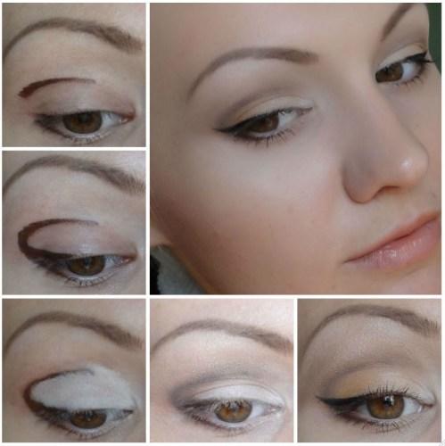 карие глаза бронзовые тени