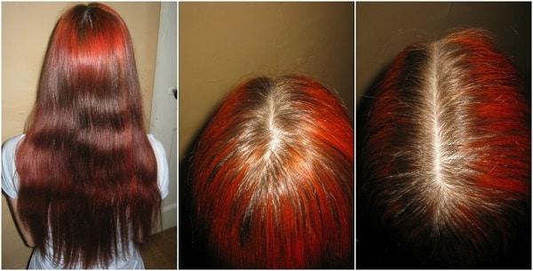 Рыжая хна на волосах