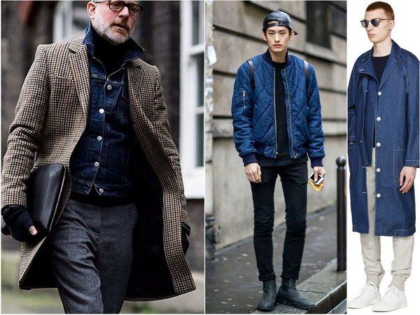 Джинсовую куртку мужчина может носить отдельно или под шерстяное или джинсовое пальто