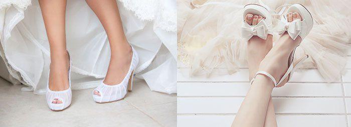 Открытые туфли на свадьбу