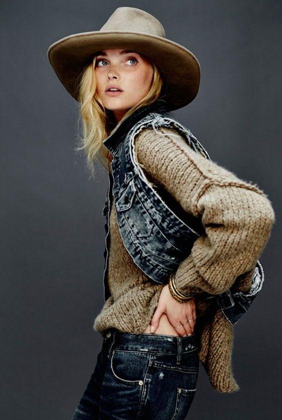 свитер крупная вязка и жилетка