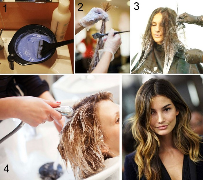 Техника окрашивания волос шатуш