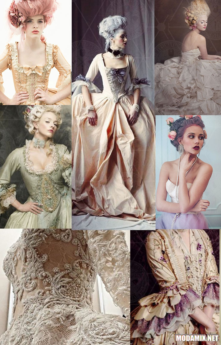 Стиль Рококо фото женских образов