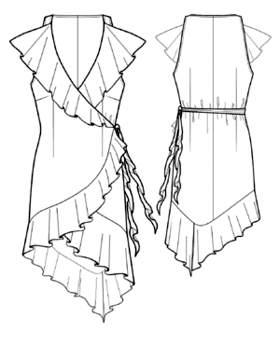Платье-халат: выкройка