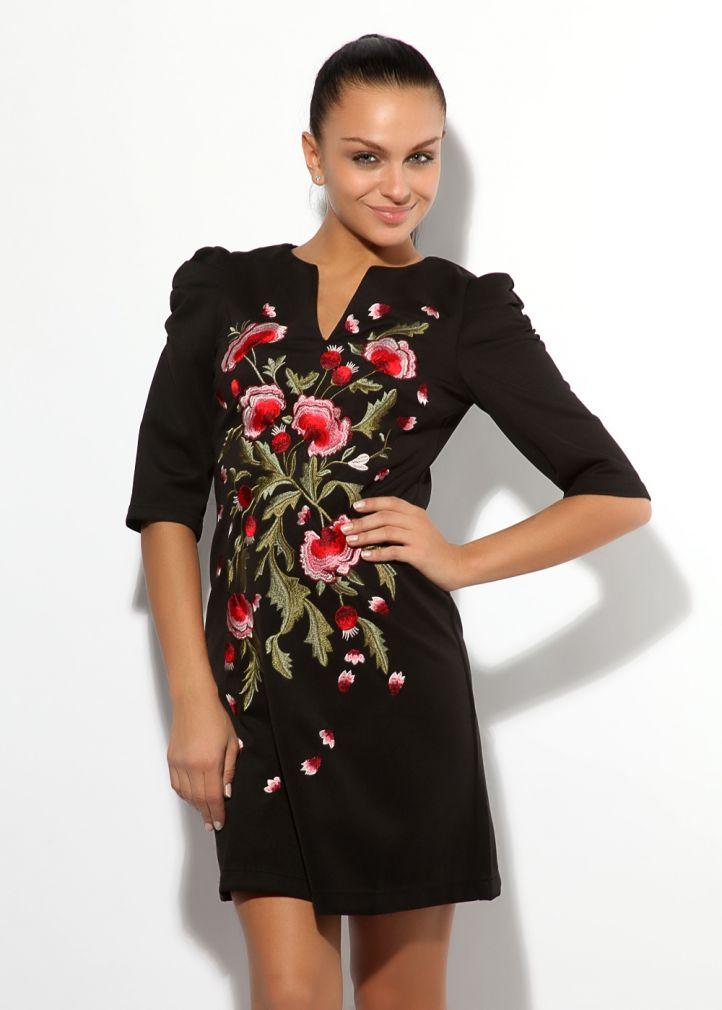 Украсить платье вышивкой