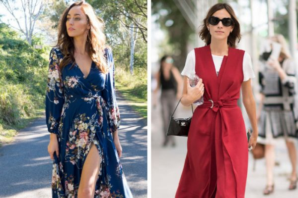 Платья с запахом 2019: новинки