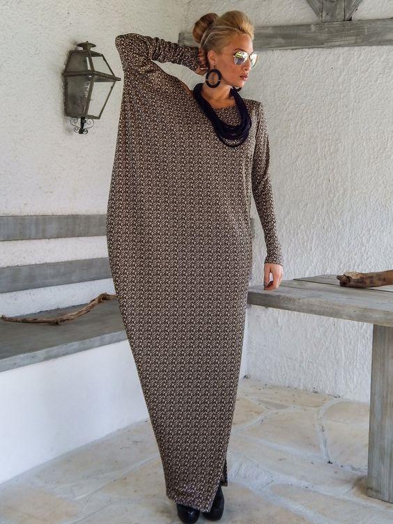 платье оверсайз, длинное свободное платье