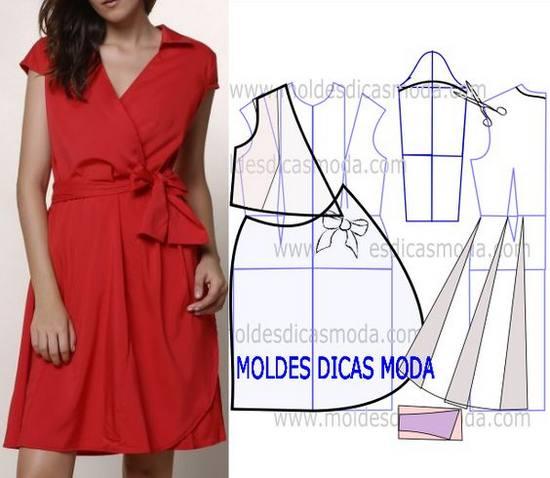 Построение выкройки платья-халата