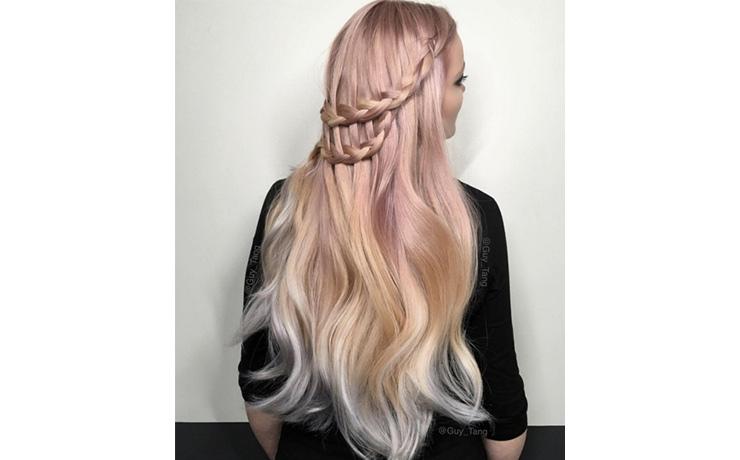 блонд срозовым оттенком фото