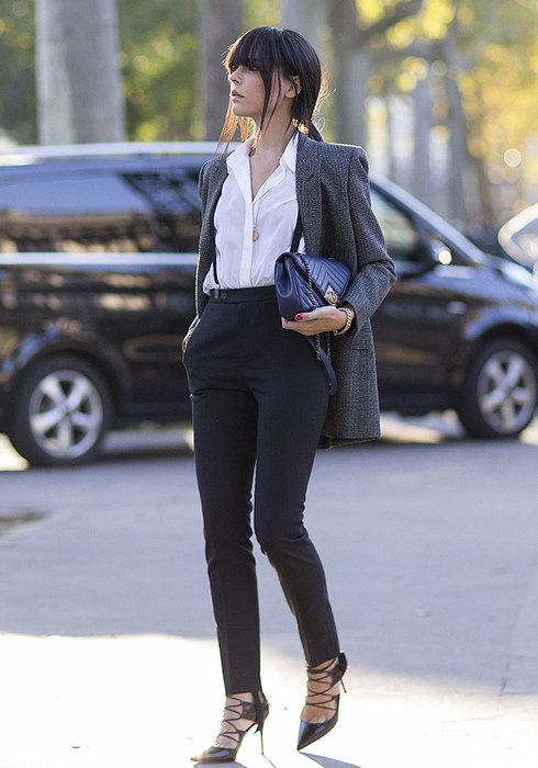модные черные брюки 2016