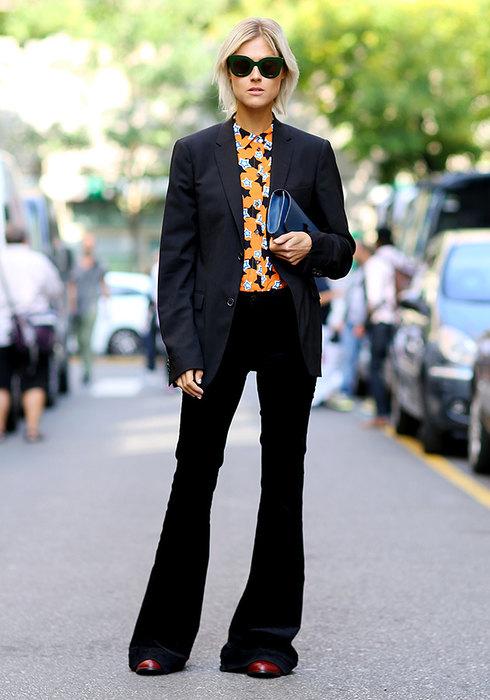 модные черные брюки фото