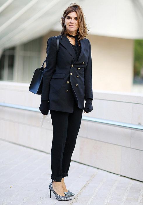 женские черные брюки как носить фото