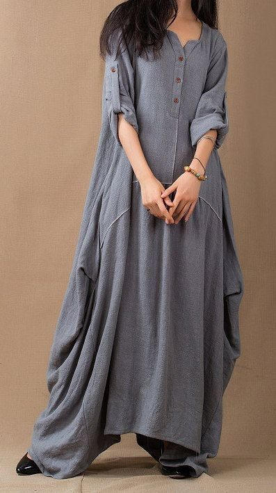 длинное платье оверсайз