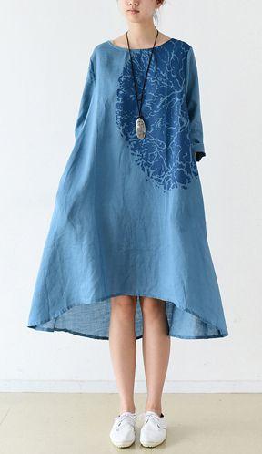 платье оверсайз, свободное платье