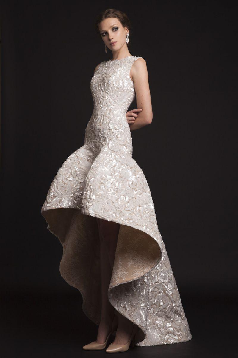 кружевное свадебное платье рыбка - короткое