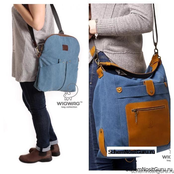 Джинсовая женская сумка