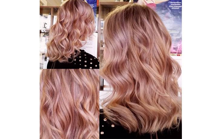 розовый блонд окрашивание