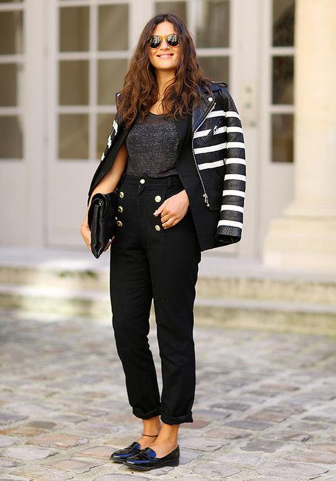 модные женские черные брюки