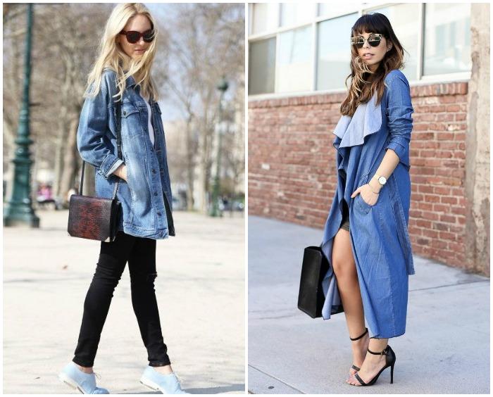 Уличный образ с джинсовым кардиганом