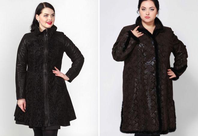 замшевое пальто для полных