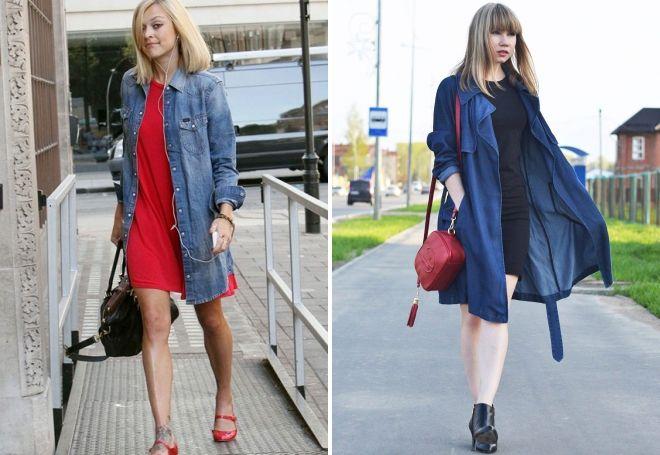 с чем носить женское джинсовое пальто