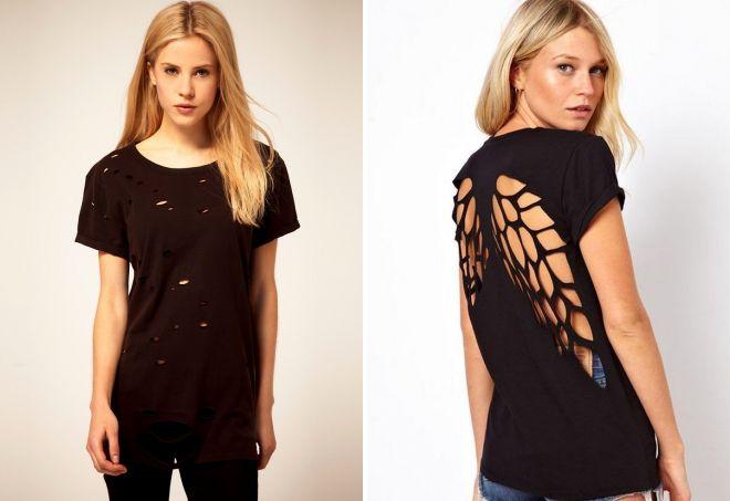 модные женские черные футболки