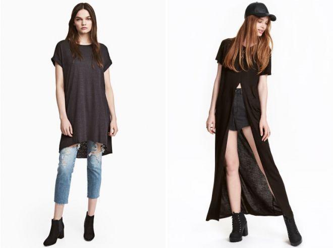 платье футболка модное с чем носить