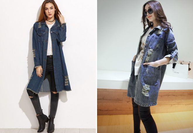 фасоны джинсовых пальто