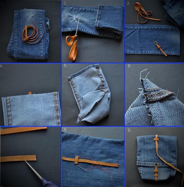 Рюкзак из штанины