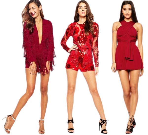 как украсить красное платье