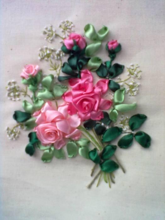 как украсить платье цветами