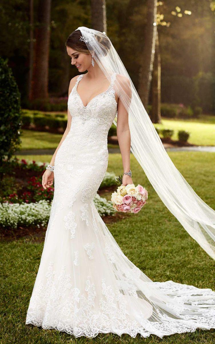 кружевное свадебное платье рыбка - аксессуар фата 1