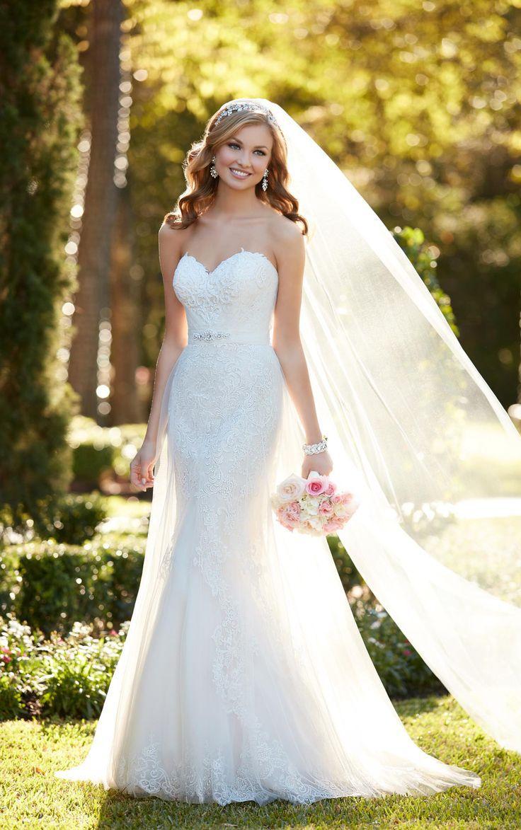 кружевное свадебное платье рыбка - аксессуар фата 2
