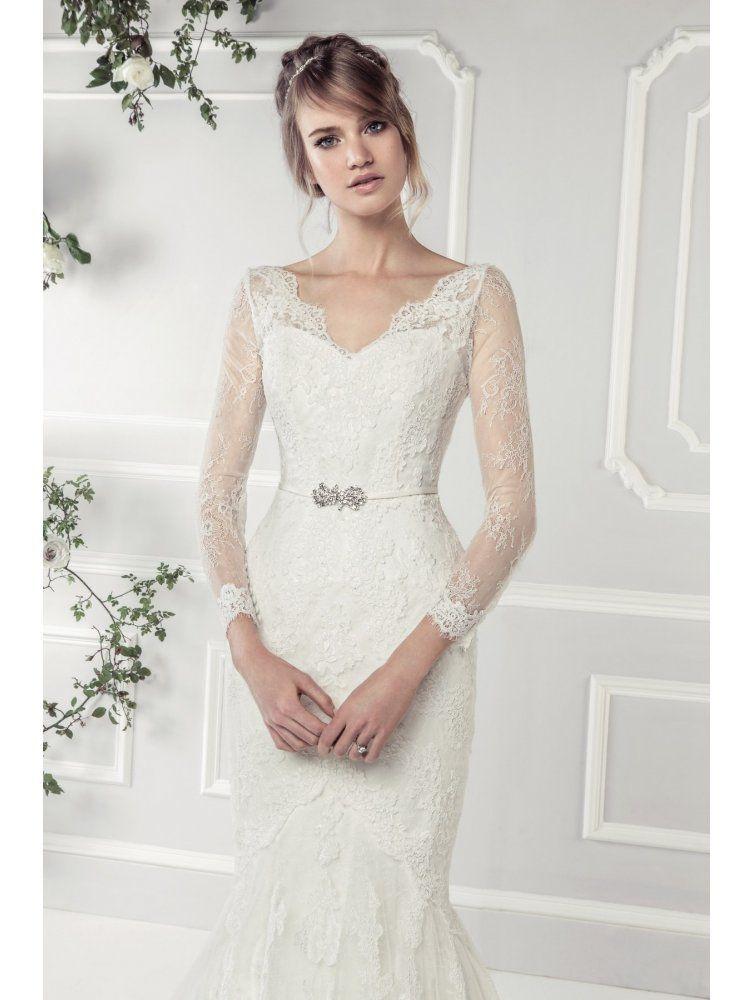 кружевное свадебное платье рыбка - рукава