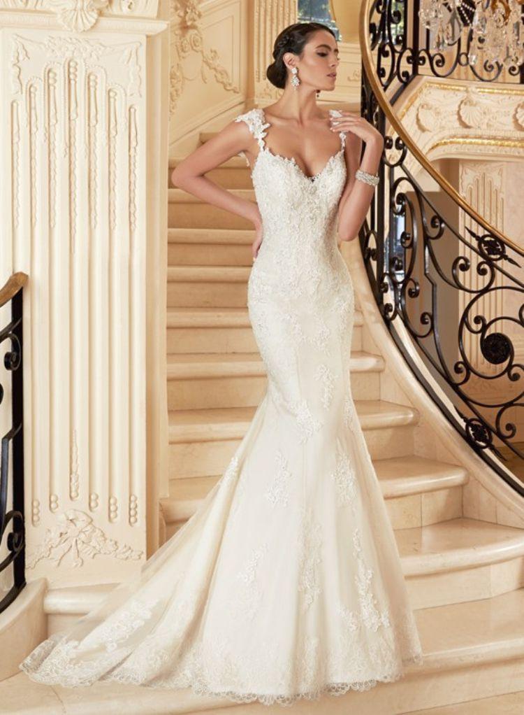 кружевное свадебное платье рыбка - с открытым верхом