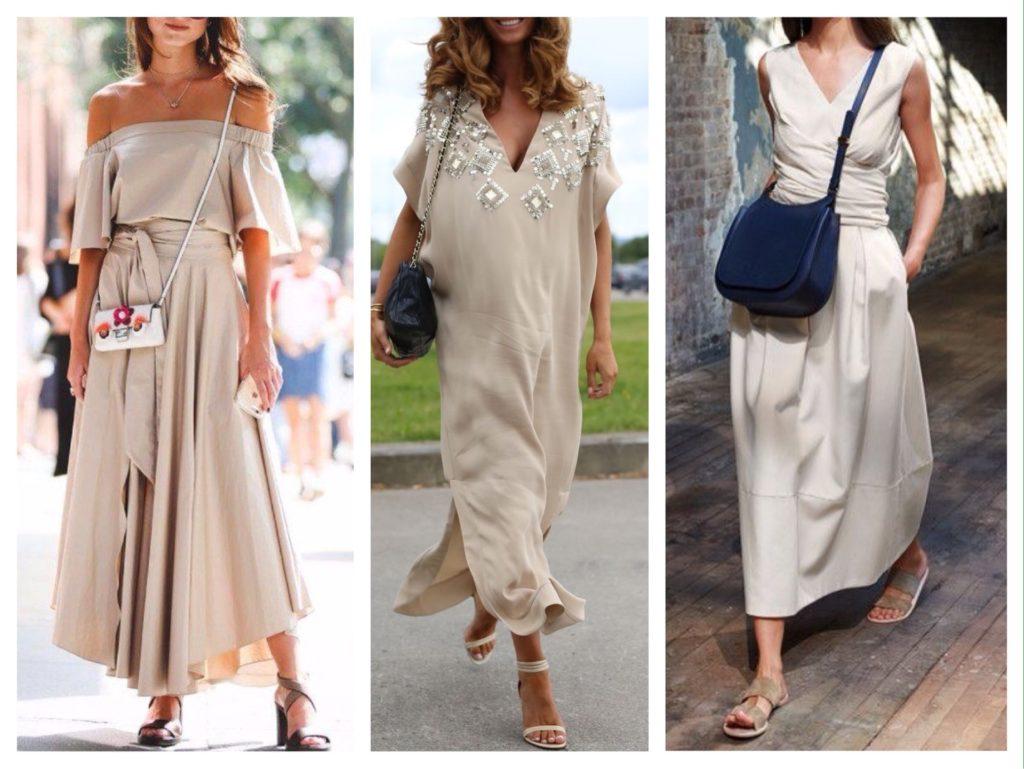 летние модели платьев макси