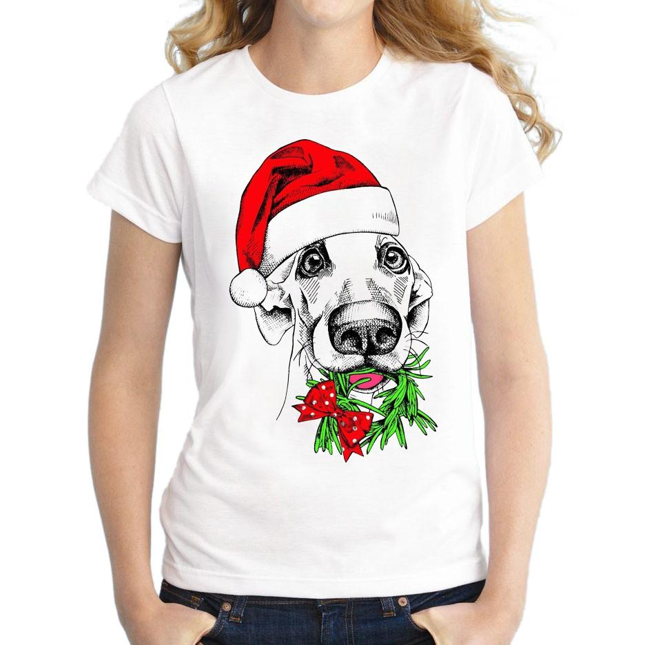 новогодняя футболка с рисунком