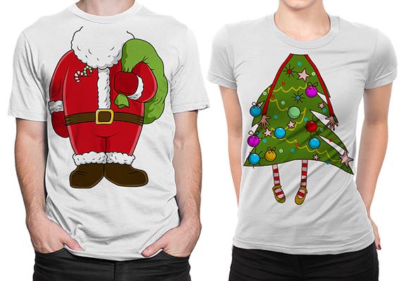 новогодние футболки с принтом